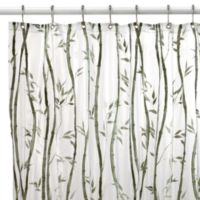Bamboo Vinyl 70-Inch W x 96-Inch L Shower Curtain