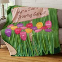 Grandma's Garden 50-Inch x 60-Inch Personalized Blanket