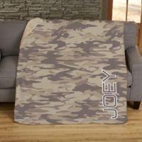 Camo 50-Inch x 60-Inch Personalized Blanket.