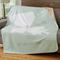 State Pride 50-Inch x 60-Inch Personalized Blanket
