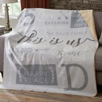 This Is Us Personalized 50-Inch x 60-Inch Sherpa Blanket