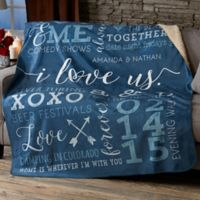 I Love Us 50-Inch x 60-Inch Personalized Blanket
