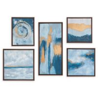 Madison Park™ Rendition 5-Piece Framed Canvas Wall Art in Teal