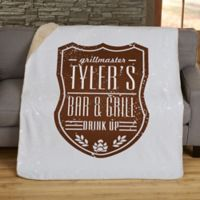 Beer Label 50-Inch x 60-Inch Personalized Sherpa Blanket