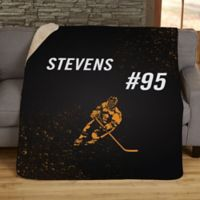 Sports Enthusiast 50-Inch x 60-Inch Personalized Sherpa Blanket