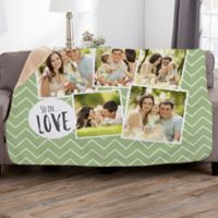 Favorite Memories 50-Inch x 60-Inch Personalized Photo Sherpa Blanket