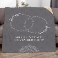 Forever and Ever 50-Inch x 60-Inch Personalized Wedding Sherpa Blanket