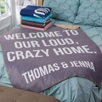 Fun Expressions 50-Inch x 60-Inch Personalized Sherpa Blanket