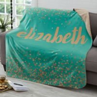 Sparkling Name 50-Inch x 60-Inch Personalized Sherpa Blanket