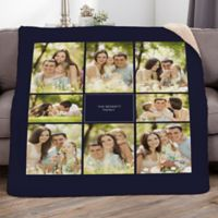 Family Photomontage 50-Inch x 60-Inch Personalized Photo Sherpa Blanket