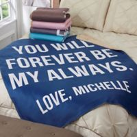 Romantic Expressions 50-Inch x 60-Inch Personalized Sherpa Blanket