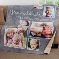 They're Worth Spoiling 50-Inch x 60-Inch Personalized Photo Sherpa Blanket
