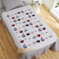 Water World 50-Inch x 60-Inch Personalized Sherpa Blanket