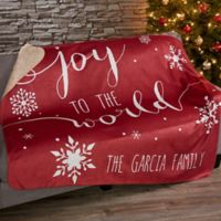 Christmas Blessings 50-Inch x 60-Inch Sherpa Blanket