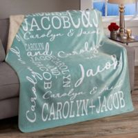 Couple In Love 50-Inch x 60-Inch Personalized Sherpa Blanket