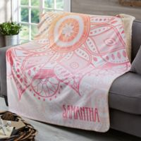 Mandala Personalized 50x60 Sherpa Blanket