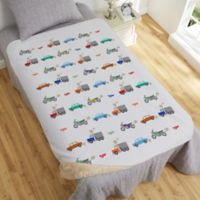 Modes of Transportation 50-Inch x 60-Inch Personalized Sherpa Blanket
