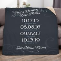 Our Best Days 50-Inch x 60-Inch Personalized Family Sherpa Blanket