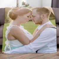 Picture It! Wedding 50-Inch x 60-Inch Personalized Photo Sherpa Blanket