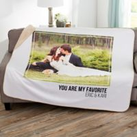 Wedding Photo Collage 50-Inch x 60-Inch Personalized Sherpa Blanket