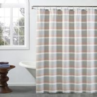 Zerena Striped 54-Inch x 78-Inch Stall Shower Curtain in Coral