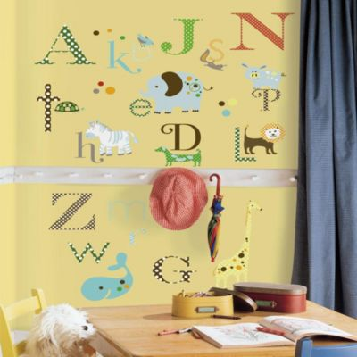 Wall Decor U003e RoomMates Animal Alphabet Peel U0026 Stick Wall Decals