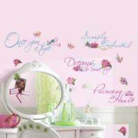 RoomMates Disney® Princess Quotes Wall Decals with Glitter
