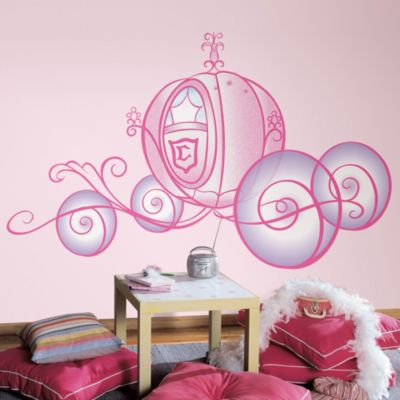 Wall Decor u003e RoomMates Peel and Stick Wall Decals in Giant Disney® Princess  Carriage