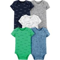 4ec1a05d745 carter s® Newborn 5-Pack Trace Animals Short Sleeve Bodysuits