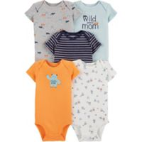edb6f33a77b carter s® Newborn 5-Pack Wild About Mom Short Sleeve Bodysuits