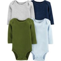 carter's® Size 3M 4-Pack Long Sleeve Bodysuits