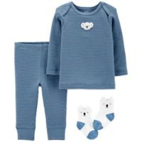 carter's® Size 9M 3-Piece Koala Long Sleeve Top, Pant and Sock Set in Blue