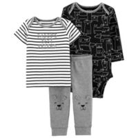 carter's® Size 9M 3-Piece Dog Little Character Layette Set in Grey