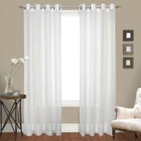 Cranston 63-Inch Grommet Top Window Curtain Panel Pair in White