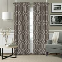 Devin 84-Inch Rod Pocket/Back Tab Blackout Window Curtain Panel in Taupe