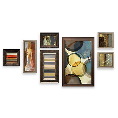 seven-piece contemporary wall art set - bed bath & beyond