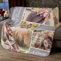 Romantic Love Collage PZ 60x80 Sherpa Blanket