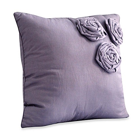 Nostalgia Home Neveah Square Throw Pillow in Purple - Bed Bath & Beyond