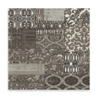 Linon Jewel Damask 2-Foot x 3-Foot Rug in Beige