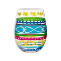 c2099006f98 Home Essentials & Beyond Multicolor Swirl Stemless Wine Glasses (Set of 4)