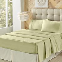 J. Queen New York™ Royal Fit Microfiber Twin Sheet Set in Sage