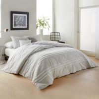 DKNY Chenille Stripe King Comforter Set in Silver