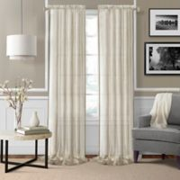 Enza Sheer 84-Inch Rod Pocket Window Curtain Panel Pair in Ivory
