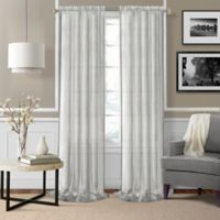 Enza Sheer 95-Inch Rod Pocket Window Curtain Panel Pair in White