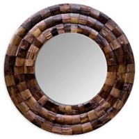 Varaluz® Wine Country 36-Inch Round Mirror in Brown