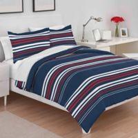 Utica Americana Stripe King Comforter Set in Red