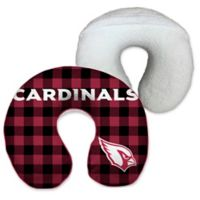NFL Arizona Cardinals Buffalo Check Pattern U-Neck Memory Foam Travel Pillow