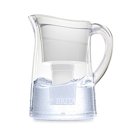 brita capri 10 cup water filter pitcher in white bed bath beyond. Black Bedroom Furniture Sets. Home Design Ideas