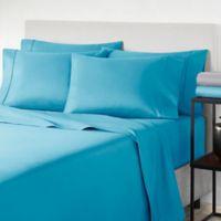 Perry Ellis America® Microfiber Solid Bonus Twin Sheet Set in Adriatic Blue