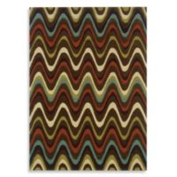 Linon Home Trio Collection 8-Foot x 10-Foot Mouzi Rug in Brown